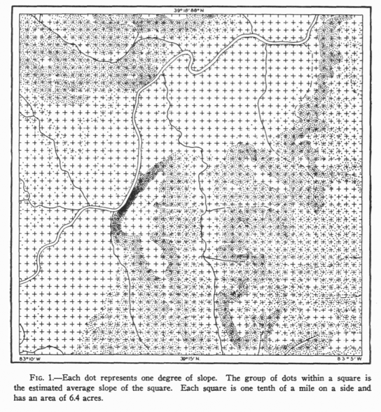 "Fig. 1 [map]. In: Robinson, A.H. ""A Method for Producing Shaded Relief from Areal Slope Data."" Annals of the Association of American Geographers 36 (1946): 248-252."